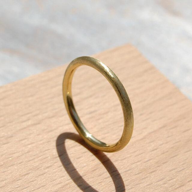つや消し ブラスプレーンリング 2.0mm幅 マット 真鍮|BRASS RING 指輪 シンプル アクセサリー|142の画像1枚目