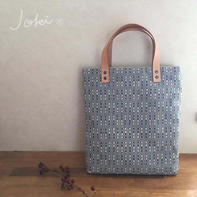 bag[手織り手提げバッグ]サックスブルーの画像1枚目