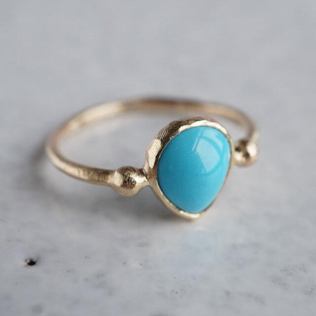 Sleeping beauty turquoise ring [OP727K10YG]の画像1枚目