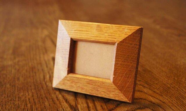 楢の木の四角いミニ額 (MG1) の画像1枚目