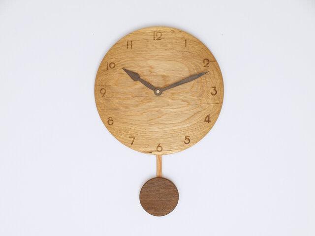 木製 振り子時計 楢材12の画像1枚目
