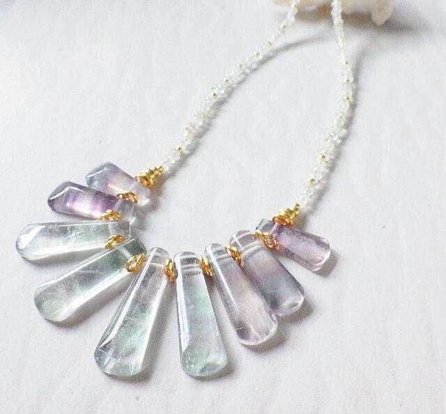 Sea Goddess Fluorite Necklace*14kgf*の画像1枚目