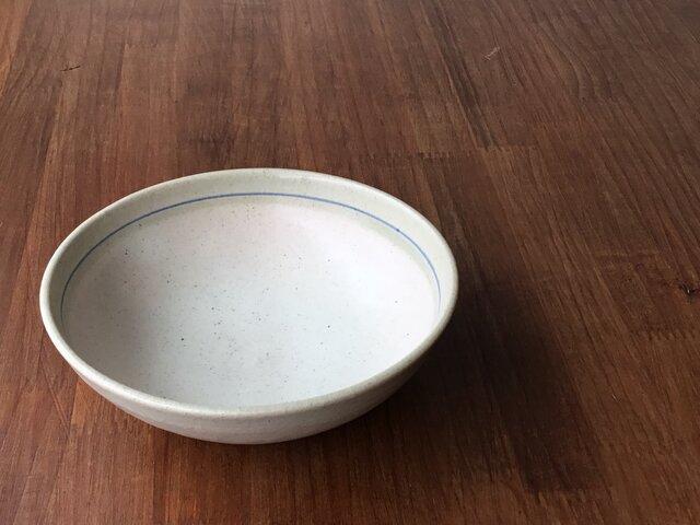 平ボウル 釉彩呉須線の画像1枚目