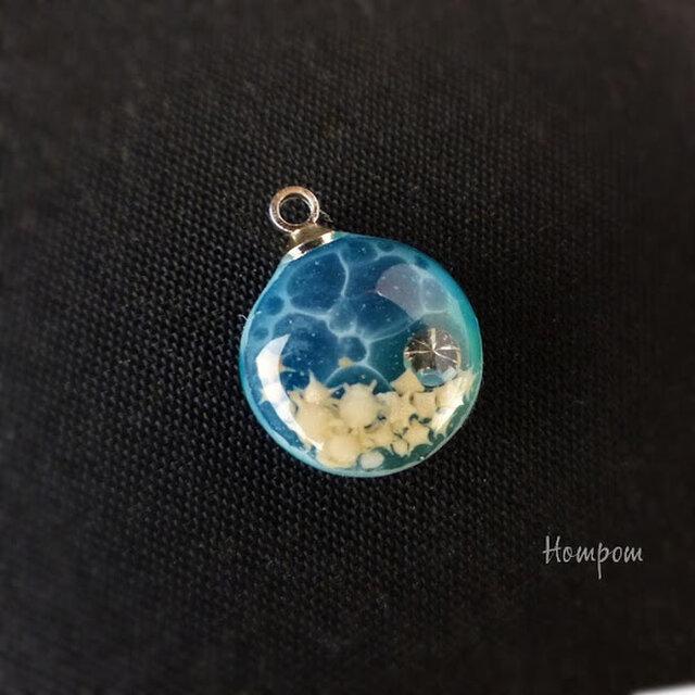 【送料無料】19n015 小さな海のネックレス ホムポムの画像1枚目