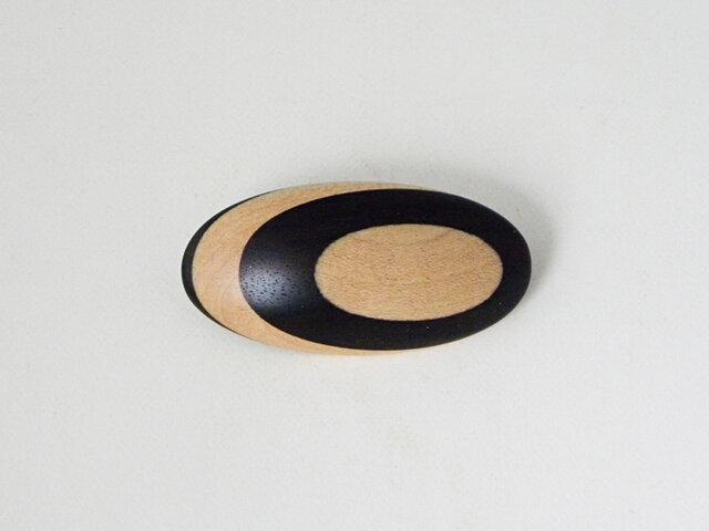 ブローチ -シマコクタン・メープル楕円-の画像1枚目