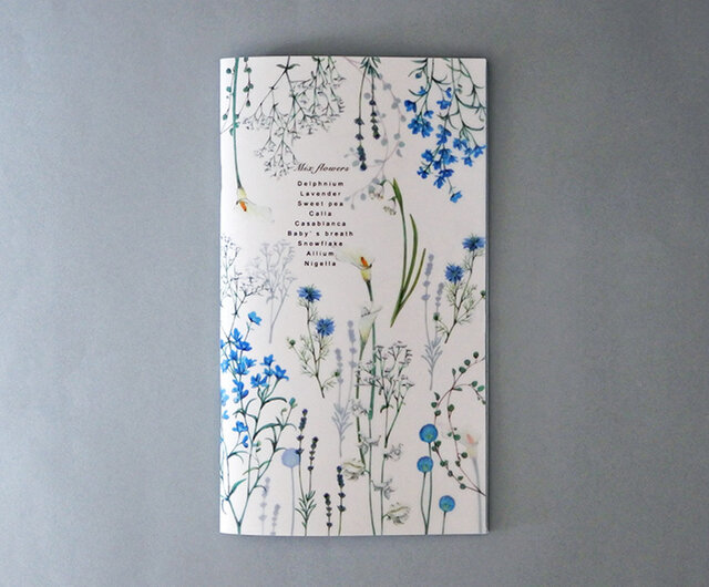 クールな花たちの色いろ彩ノートの画像1枚目