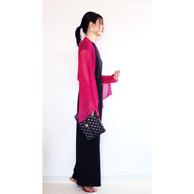 ◆即納◆Rigel[リゲル] 袖付きストール / フューシャ・ピンクの画像1枚目