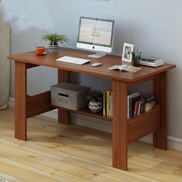 オーダーメイド 職人手作り パソコンデスク デスク テーブル 学習机 天然木 オフィス家具 木目 家具 サイズオーダー可の画像1枚目