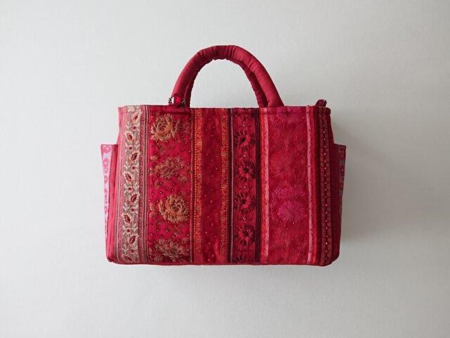 RED  FRANCE RIBBON STANDARD BAGの画像1枚目