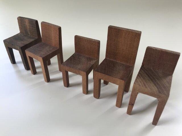 椅子置物 背付き③ 5個セットの画像1枚目
