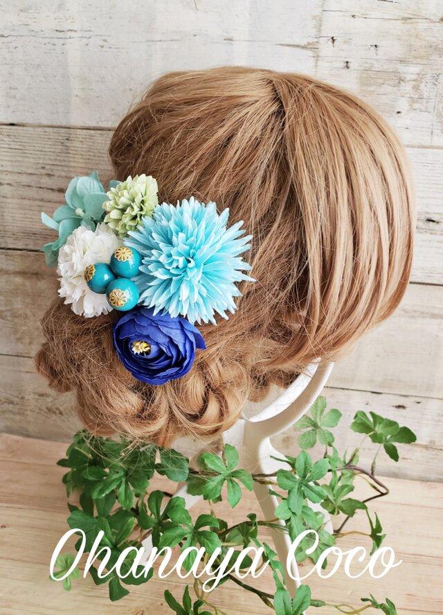 花yurari キュート姫 お花の髪飾り6点Set No554の画像1枚目