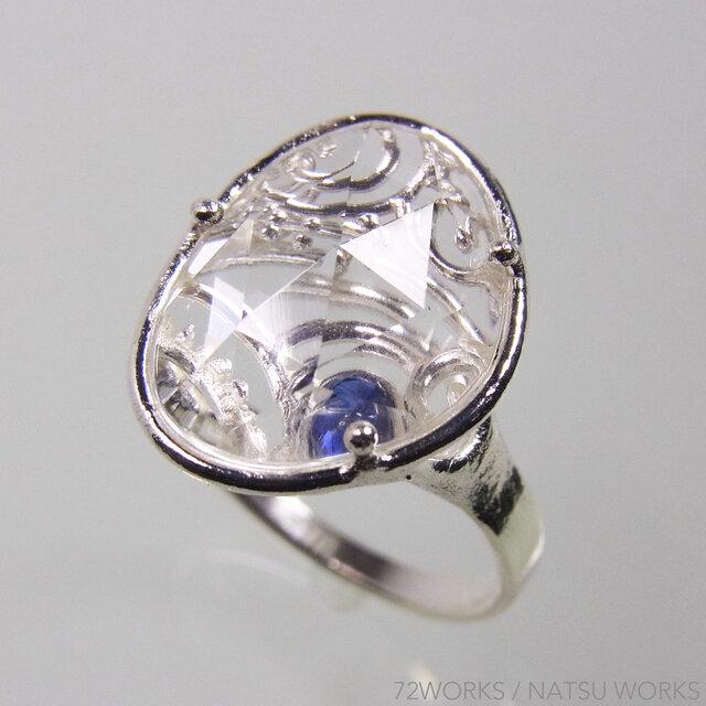 クォーツとサファイアの指輪 * Quartz and Sapphire Ringの画像1枚目