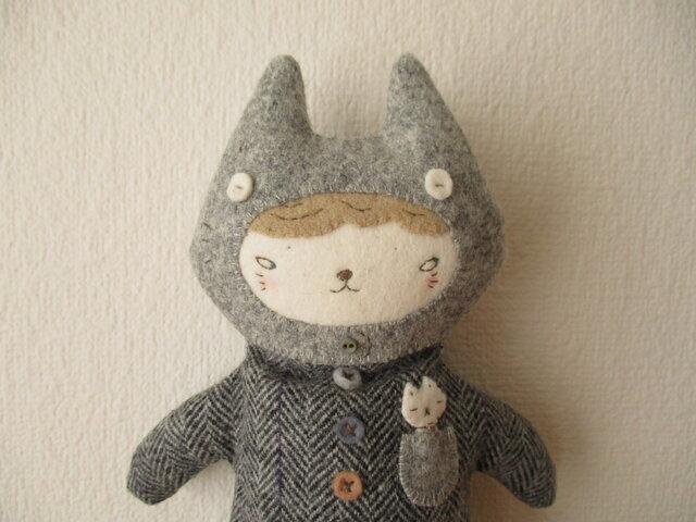 猫少年ペンケース(グレーニャン)の画像1枚目