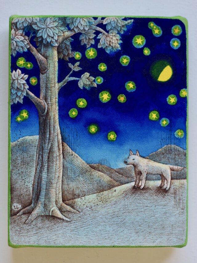 上弦の月(原画)[original drawing]の画像1枚目