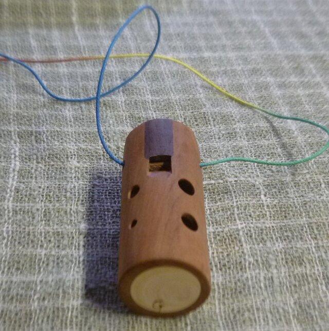 桜の木のオカリナ アメリカンチェリー材 アルト管G管の画像1枚目