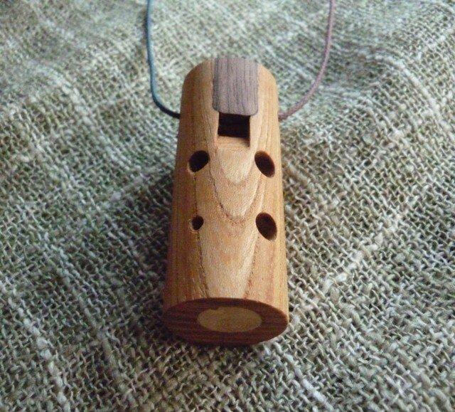 木のオカリナ ケヤキ ソプラノ管 C管の画像1枚目