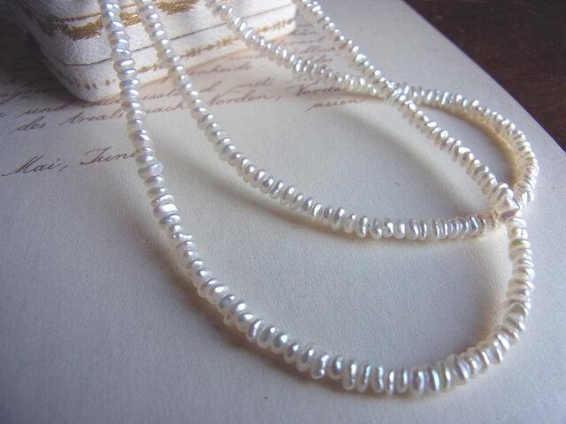 あこや真珠ケシロングネックレスの画像1枚目