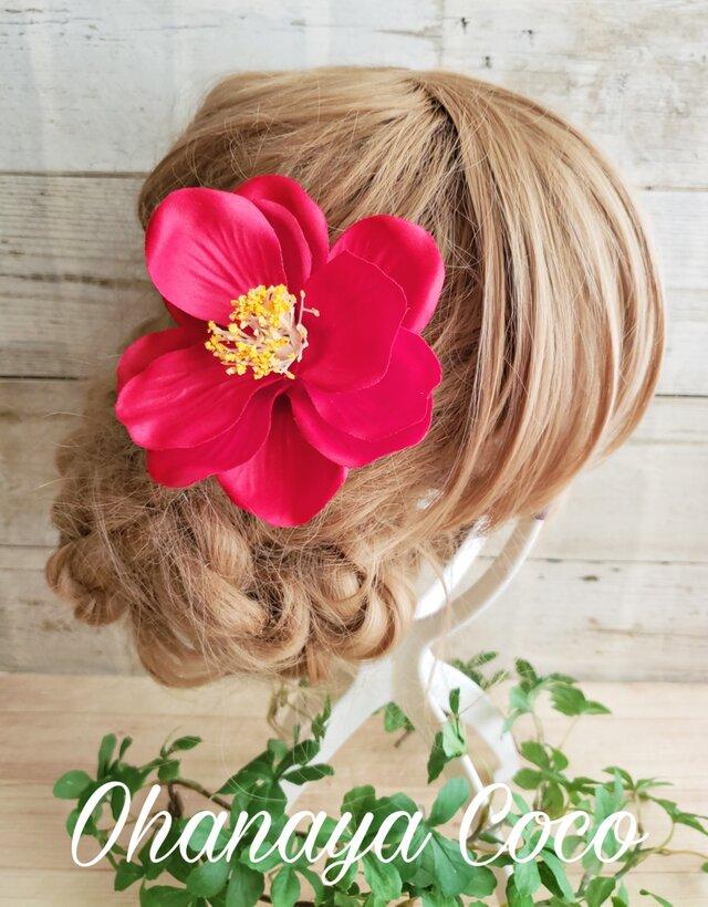 キュートな椿の髪飾り 2wayクリップピンタイプ 浴衣の画像1枚目