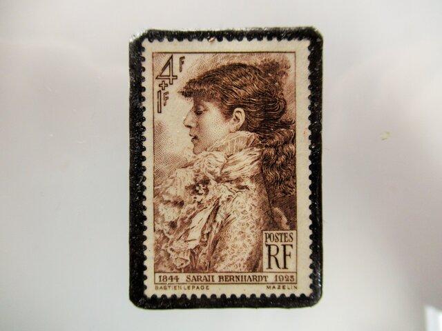 フランス サラベルナール 切手ブローチ 5341の画像1枚目