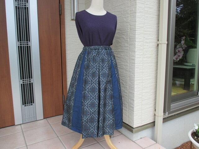 着物リメイク  箱ひざスカート 再出品登録ご遠慮願います。の画像1枚目