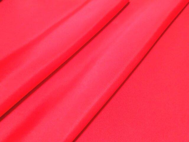 正絹 羽二重 胴裏地 はぎれ 赤 紅絹 50cmの画像1枚目