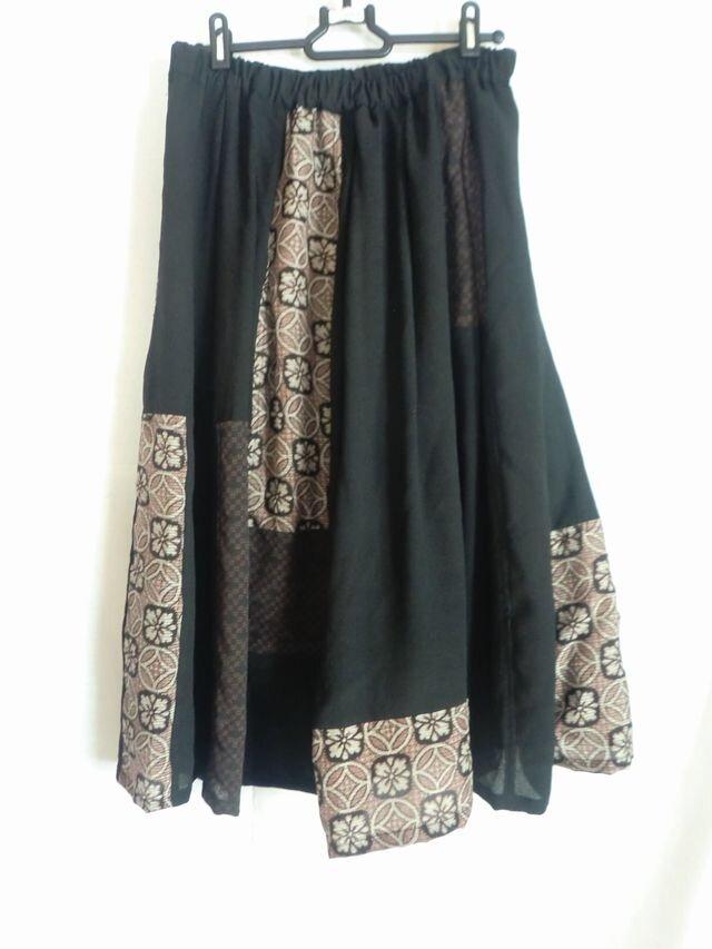 着物リメイクスカート  1388の画像1枚目