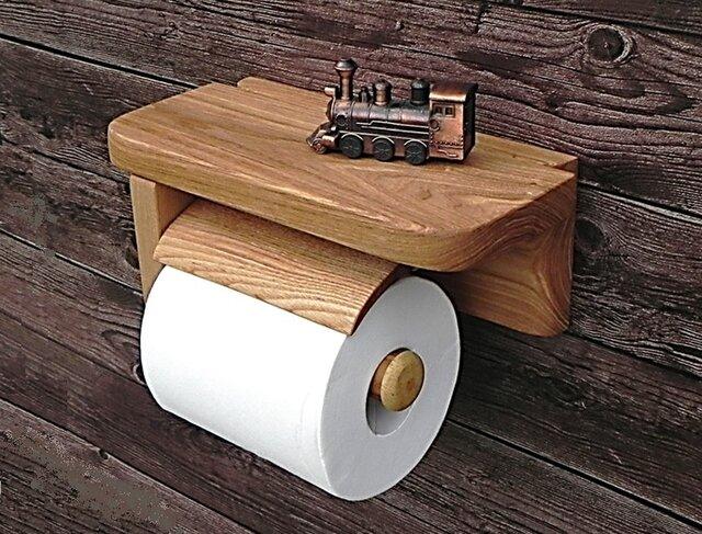 木製トイレットペーパーホルダーVer.5S(アッシュ無垢材)の画像1枚目