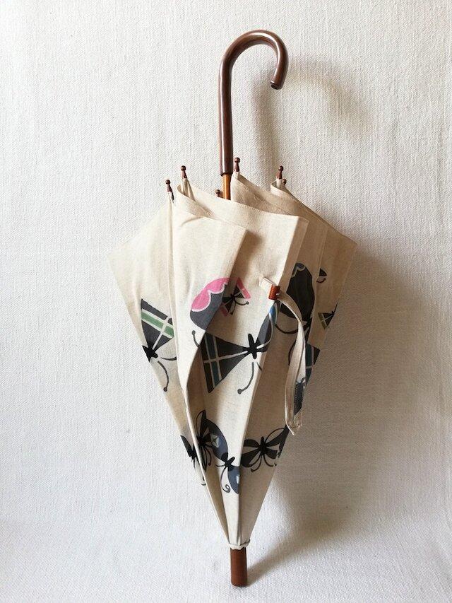 型染め 日傘「蝶のさんぽ」の画像1枚目
