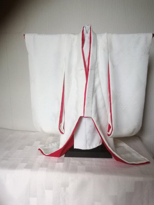 ♪市松人形の着物18号 白無垢96の画像1枚目