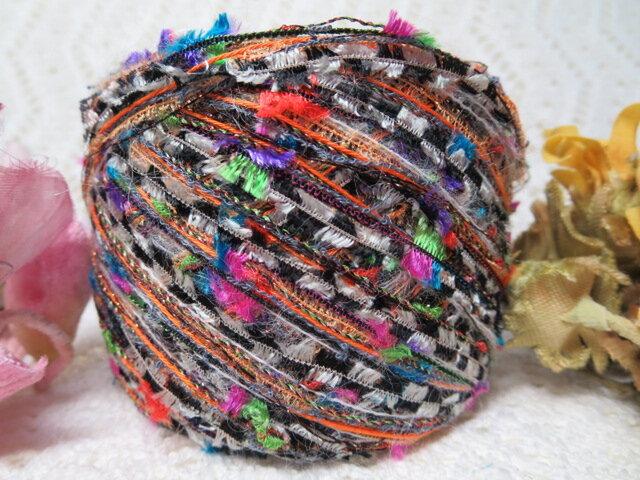 ♪花hana花♪オリジナル引き揃え糸130g㊴2玉の画像1枚目