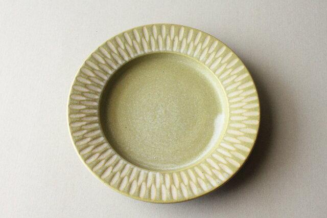 6寸リム皿 イェローの画像1枚目