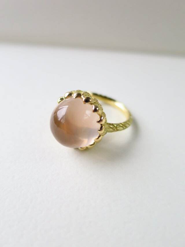 K18  Star Rose quartz Ringの画像1枚目