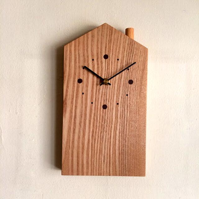 掛け時計 おうち タモの画像1枚目