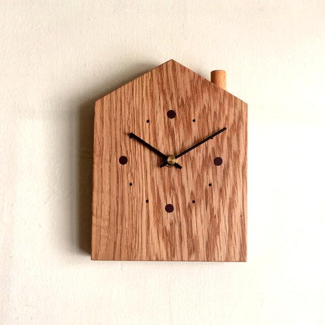 掛け時計 おうち オークの画像1枚目