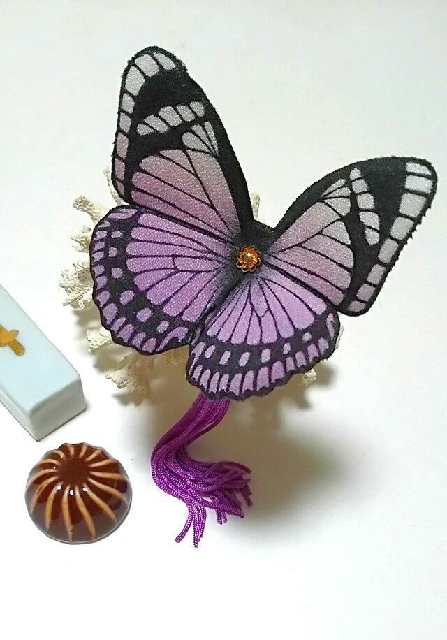 蝶のかんざし(大)の画像1枚目