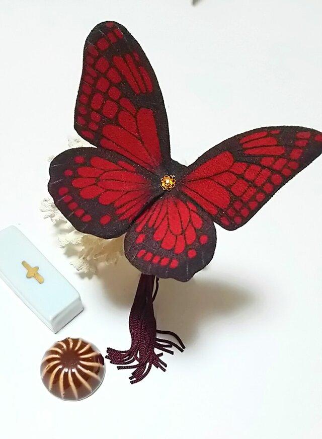 蝶のかんざし(大)アサギマダラの画像1枚目