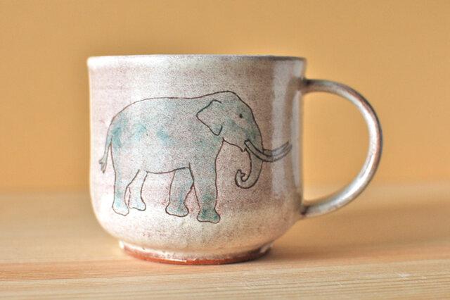 粉引 Elephant cup ゾウのマグカップの画像1枚目