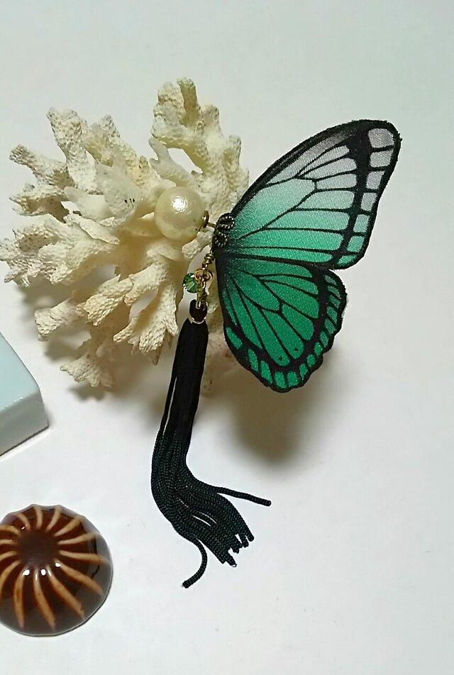 蝶のピアス(大)モルフォの画像1枚目