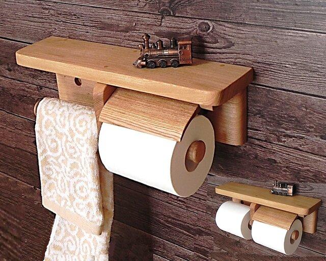 木製トイレットペーパーホルダー Ver.13s(アッシュ無垢材)の画像1枚目