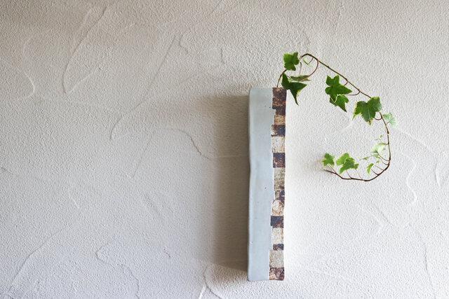 白釉ロング掛花の画像1枚目