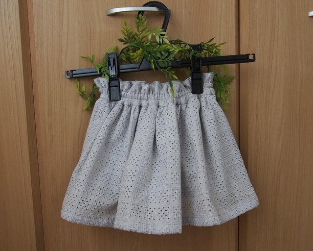 【コットンレーススカート】 サイズ120の画像1枚目