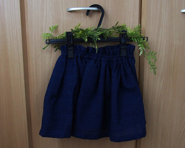 【コットンレーススカート】 サイズ110の画像1枚目