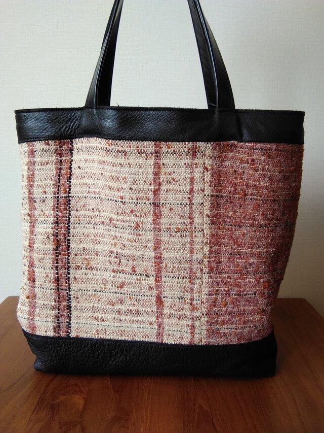 布と革のトートバッグの画像1枚目