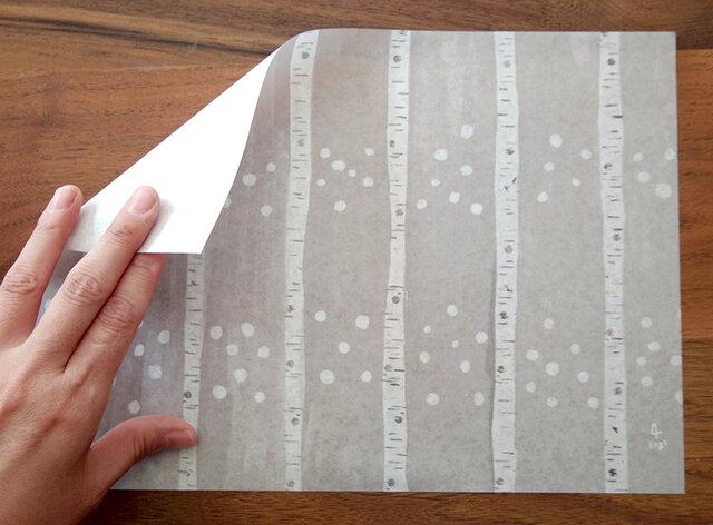 A4サイズ 包装紙/ラッピングペーパー 『白樺』30枚入りの画像1枚目