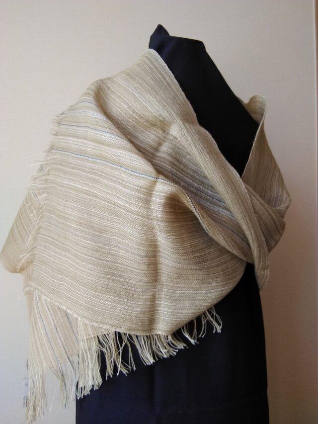 手織りストールの画像1枚目