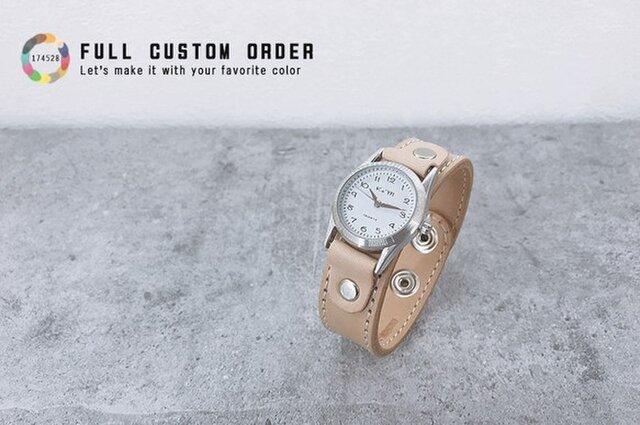 ▲STITCH 12色から選ぶフルカスタム「ステッチラン 腕時計」見やすい文字盤(SRW-CUSTOM)の画像1枚目