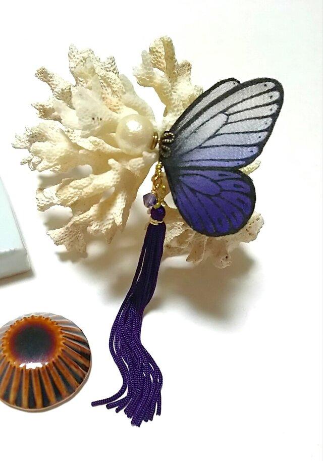 蝶のピアス(大)モンシロ系の画像1枚目