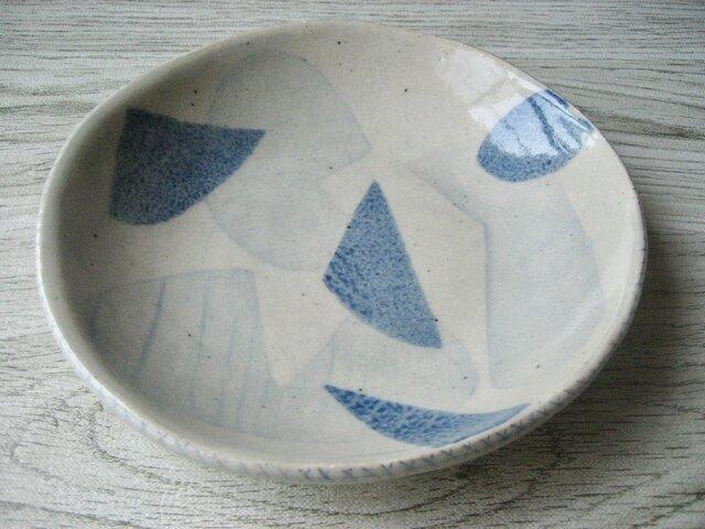 スリップ模様 中皿の画像1枚目