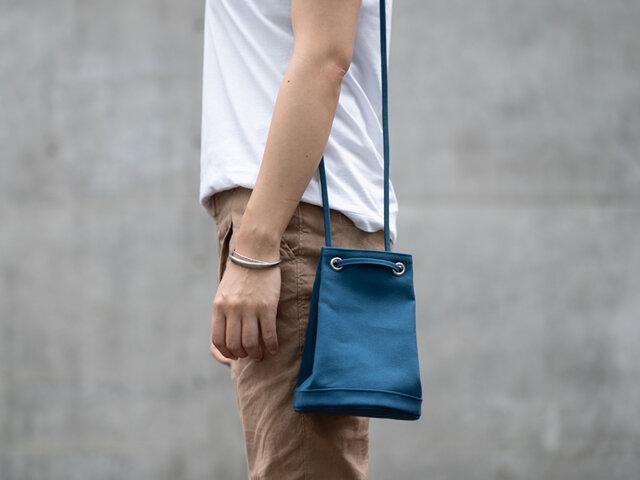 2wayランタンバッグ ブルーの画像1枚目