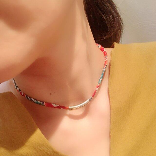 France製リボンのネックレス【アネモネ】の画像1枚目